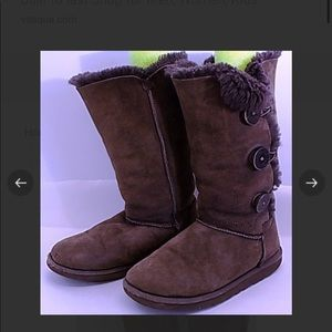 Ugg Tall Bailey Brown Button Boots